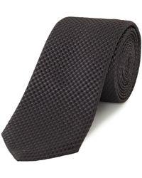 HUGO - Textured Square Print Silk Tie - Lyst