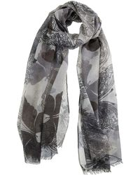 Dents - Large Butterfly Print Scarf - Lyst