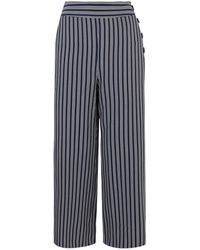 Oasis - Stripe Button Trousers - Lyst