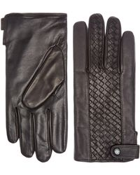Ted Baker - Braid Panelled Weave Leather Glove - Lyst