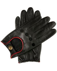 Dents Classic Leather Driving Gloves - Black