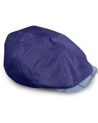 9ff5e8cb111 Ted baker Plain Flat Cap in Blue for Men