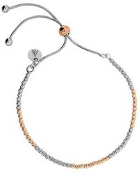 Azendi | Rose & Silver Textured Adjustable Bracelet | Lyst