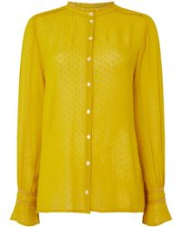 Part Two - Textured Button Blouse - Lyst