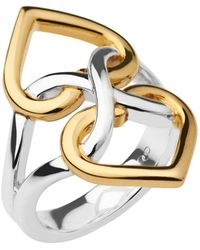 Links of London - Infinite Love Silver & Gold Vermeil Ring - Lyst