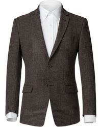 Alexandre Of England | Men's Exton Brown Puppytooth Jacket | Lyst