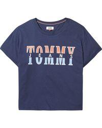 Tommy Hilfiger - Retro Logo T-shirt - Lyst