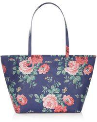 Cath Kidston - Antique Rose Zip Tote Bag - Lyst