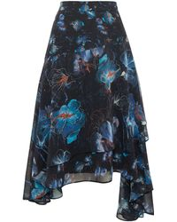 Label Lab | Layla Orchid Print Skirt | Lyst