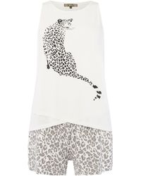 Biba - Snow Leopard Pj Short Set - Lyst
