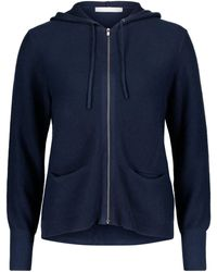 Betty Barclay Ribbed Knit Hoodie - Blue