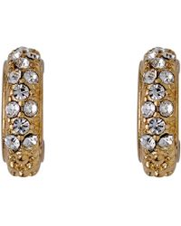 Pilgrim - Gold Plated With Crystals Earrings - Lyst