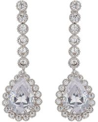 Mikey - Eclipse Stone Surround Drop Earring - Lyst