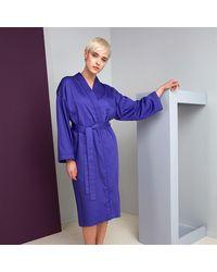 KENZO Signe Bath Robe - Purple