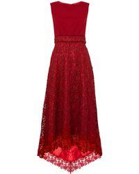 Ariella | Red Contrast Bodice Midi Dress | Lyst