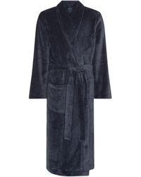 Howick Fleece Dressing Gown - Blue