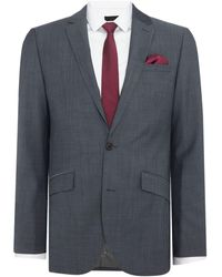 Kenneth Cole Byram Twill Travel Suit Jacket - Gray