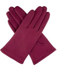 Dents Classic Leather Gloves - Pink