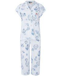 Lauren by Ralph Lauren Stamp Print Pyjama Se - Blue