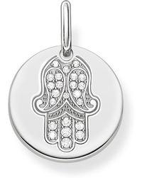 Thomas Sabo - Love Coin Silver Hand Of Fatima Pendant - Lyst