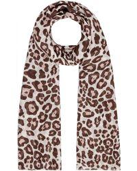 Guess - Leila Leopard Print Scarf - Lyst