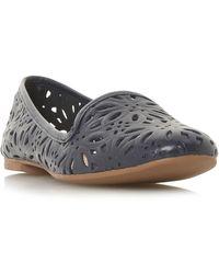 d76a16bfe0d Galatia Floral Laser Cut Slipper Pump Shoes - Blue