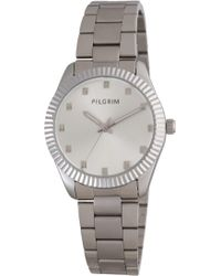 Pilgrim - Silver Plated Metal Band Watch - Lyst
