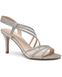 Paradox London Pink - Marina Glitter And Mesh Sandals - Lyst