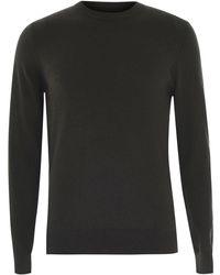 Howick Cotton Cashmere Crew Jumper - Black