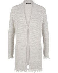 Olsen Long Cardigan Bouclé Yarn - Natural