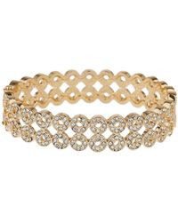Mikey - Circle Cubic Embed Link Bangle Bracelet - Lyst