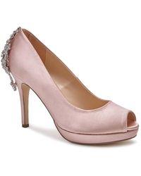 Paradox London Pink Pricilla Crystal Back Platform Shoes - Pink