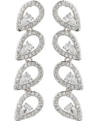 Mikey - Eclipse Cubic Link Drop Earring - Lyst