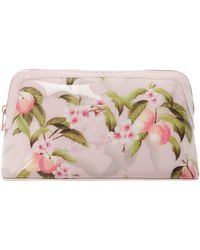 7cadada7883fa Lyst - Ted baker Harlonn Light Pink Large Cotton Makeup Bag in Pink