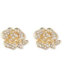 Anne Klein - Flower Stud Earrings - Lyst
