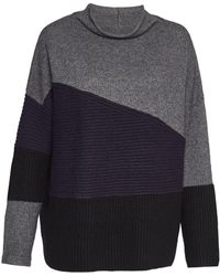 French Connection - Patchwork Knits High Neck Jumper - Lyst