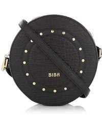 Biba - Stud Circle Crossbody Leather Bag - Lyst