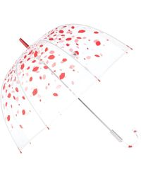 Lulu Guinness Raining Lips Birdcage Umbrella - Pink