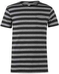 Lee Jeans Lee Stripe T Shirt - Gray