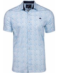 Raging Bull - Men's Big And Tall Short Sleeve Micro Floral Shirt - Lyst