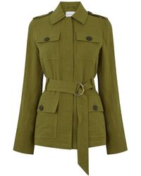 Warehouse Utility Belted Jacket - Green