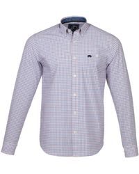 Raging Bull - Big & Tall Long Sleeve Window Pane Check Shirt - Lyst