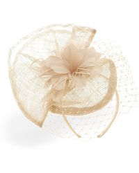 Phase Eight Carley Flower And Veil Fascinator - Yellow