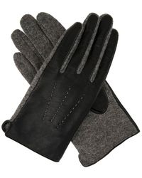 Dents - Womens Leather And Fabric Gloves - Lyst