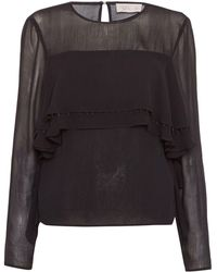 Label Lab - Ruffle Front Blouse - Lyst