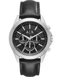Armani Exchange - Ax Armani Exchange Drexler Chronograph Leather-strap Watch - Lyst