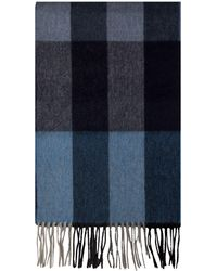 Alexandre Of England - Holbeck Blue Multi Cashmere Blend Scarf - Lyst