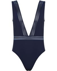 Ted Baker Deep V Swimsuit - Blue