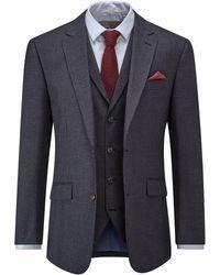Skopes Grainger Houndstooth Suit Jacket - Blue