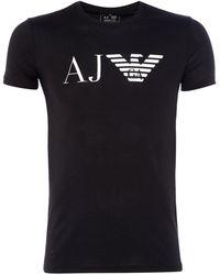 Armani Jeans | Regular Fit Aj Eagle Logo Printed T Shirt | Lyst